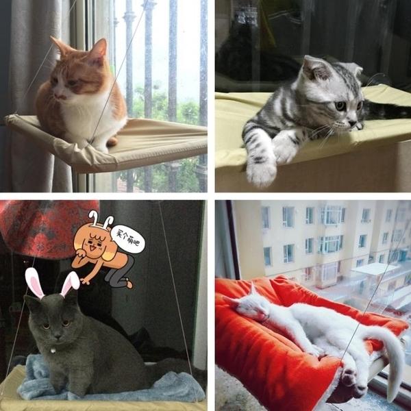 可拆洗曬太陽強力吸盤貓咪吊床高檔貓吊床寵物貓墊貓窩貓爬架LG-22885