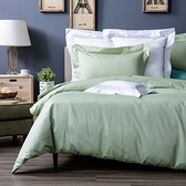 HOLA 托斯卡素色純棉被套 雙人 彩綠