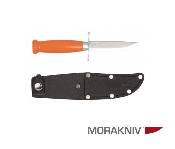 丹大戶外用品【MORAKNIV】瑞典 CLASSIC SCOUT 39 SAFE 經典木柄不鏽鋼短直刀 橘 12287