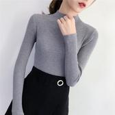 毛針織衫半高領毛衣女加絨加厚秋冬季內搭修身長袖洋氣打底針織衫新品