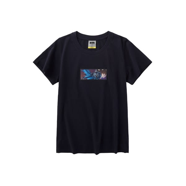 CACO-蝙蝠俠幻影短T-情侶款(二色)-女【TDC001】