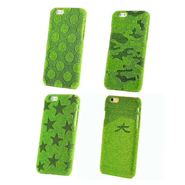 iPhone 6/6s Plus 手機殼 日本 獨家代理 草地/草皮 硬殼 5.5吋 Shibaful -草地點點