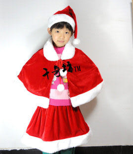 聖誕節服裝 女裝披肩3件套 330g