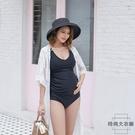 韓版孕婦專用分體泳衣遮肚托腹泳裝時尚性感顯瘦小胸聚攏【時尚大衣櫥】