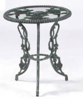 【南洋風休閒傢俱】戶外休閒桌系列-玫瑰玻璃桌 戶外桌 餐桌  適民宿 餐廳 咖啡廳 (#203T)