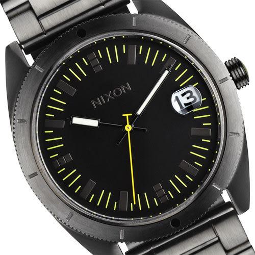 NIXON The Rover SS II 強眼時尚腕錶-黑/鐵灰 A359-632