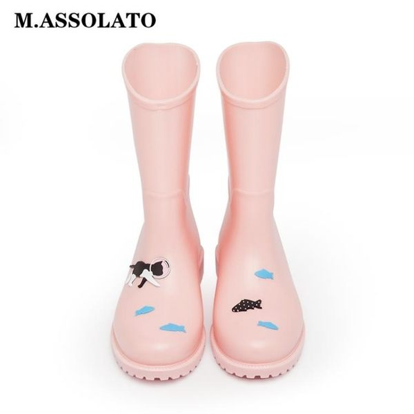 馬靴套鞋輕便防滑水雨靴中筒膠鞋雨鞋女  ifashion部落
