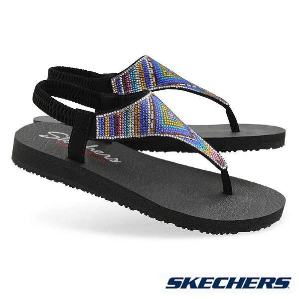 SKECHERS MEDITATION GYSPY GLAM 涼鞋 - 31769BKMT