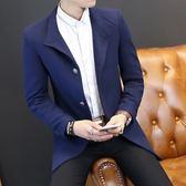 西裝外套 毛呢-時尚帥氣經典個性男西服3色73kl27[巴黎精品]