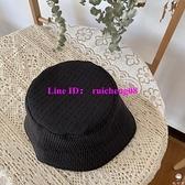 漁夫帽百搭日系條紋防曬素顏遮陽氣質水桶帽【桃可可服飾】