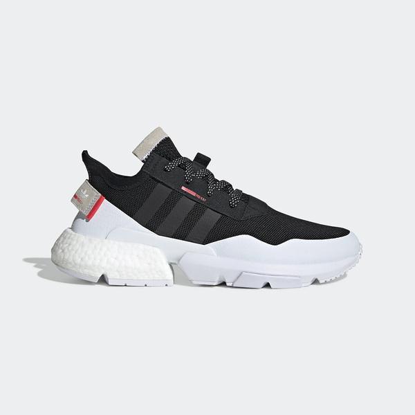 Adidas POD-3.1 [EF1828] 男鞋 運動 休閒 慢跑 路跑 襪套 街頭 緩震 舒適 穿搭 愛迪達 黑白
