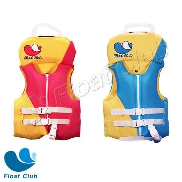 【南紡購物中心】Float Club 獨家頭枕浮力背心 泳衣漂浮安全救生 (粉色/藍色)