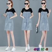 牛仔洋裝 2020夏新款流行氣質女裝洋氣高端連身裙矮個子顯高潮 BT24124『易購3c館』