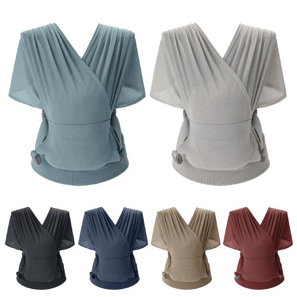 【贈紗布巾三入組】韓國 Pognae Step One Air 抗UV包覆式新生兒揹巾(6色可選)