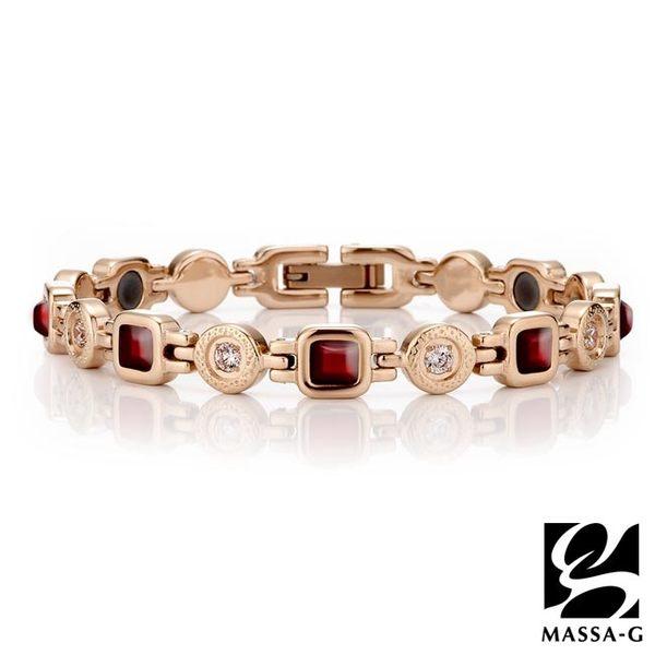 風華絕代 紅瑪瑙精鋼手環 DECO X MASSA-G