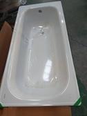 【麗室衛浴】BATHTUB WORLD H-414 國產省水型鋼板琺瑯浴缸  含鍊條式落水頭有止水設計