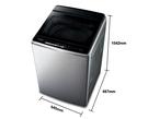 《Panasonic 國際牌》nanoe 16公斤 直立式變頻 溫水 雙效槽洗淨洗衣機 NA-V160GBS-S(不鏽鋼)