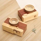 音樂盒  創意男女生日禮物復古創意相機木質八音盒桌面音樂盒裝飾擺件 KB10034【野之旅】