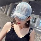 鴨舌帽 帽子女夏季牛仔帽韓版顯臉小鴨舌帽2021年爆款新款時尚棒球帽春夏 晶彩