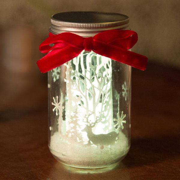 創意許願瓶紙雕小夜燈