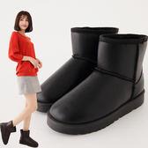 短靴  國民素色防潑水素色保暖雪靴  香榭