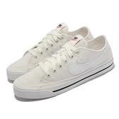 Nike 休閒鞋 Wmns Court Legacy CNVS 米白 帆布鞋 女鞋 小白鞋 【ACS】 CZ0294-101