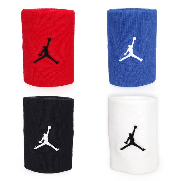 NIKE Jordan Jumpman單色腕帶 (飛人喬登 籃球 NBA 護腕 一雙入 免運 ≡排汗專家≡