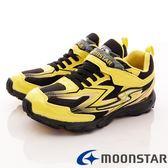 【MOONSTAR】日本月星競速童鞋-閃電競速運動款-SSJ7463黃(19cm-24.5cm)