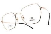 SEROVA光學眼鏡 SL376 C7 (黑-玫瑰金) 金屬復古造型款 眼鏡框 #金橘眼鏡