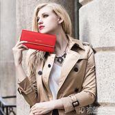 新款時尚女士錢包女長款女式簡約大氣真皮夾子女款手拿包錢夾 沸點奇跡