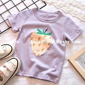 2021春夏新款童裝女童純棉草莓短袖T恤 寶寶兒童圓領打底衫上衣 幸福第一站