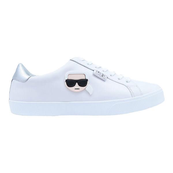Karl Lagerfeld 卡爾 老佛爺 女鞋 SKOOL IKONIK 3D綁帶休閒鞋-白