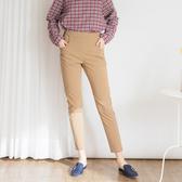【中大尺碼】MIT雙釦打棗薄布長褲