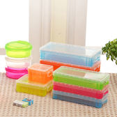 文具長方形透明文具收納盒約22x10x4 5cm 收納用品糖果色鉛筆盒收納盒置物盒【PMG220 】SORT