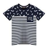 『小鱷魚童裝』汽車印花條紋T恤(01號~08號)533437