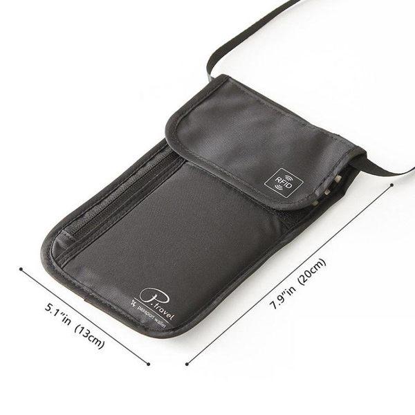 旅行貼身防盜腰包 出國旅游便攜掛包護照包隱形錢包防偷錢包男女