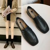 兩穿小皮鞋女簡約百搭加絨工作女鞋秋冬爆款英倫復古chic單鞋 艾美時尚衣櫥