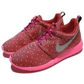 【六折特賣】 Nike 休閒慢跑鞋 Rosherun Print GS 運動鞋 紅 銀 點點 女鞋 大童鞋【PUMP306】 677784-606