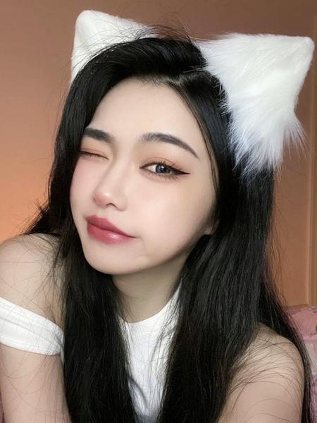 可愛日繫髮箍貓耳狐貍耳朵頭飾頭箍獸耳髮夾貓咪髮卡髮飾品女主播 小天使