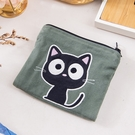 Kiro貓‧小黑貓 雙層 零錢包/面紙/衛生棉/口罩收納包【820168038】