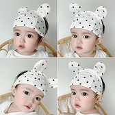 嬰兒髮帶 嬰兒發帶護囟門帽夏季薄款紗布寶寶新生兒頭圍遮腦門心夏天 小衣里