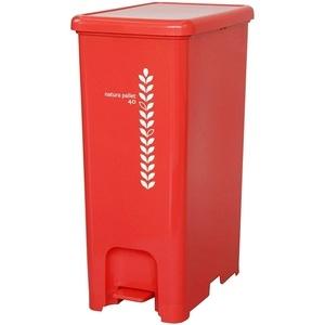 【this-this】 踩踏式分類垃圾桶 40L-紅色