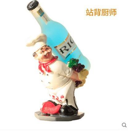 廚師酒架 紅酒架 創意紅酒架擺件 樹脂工藝酒架 酒櫃葡萄酒架