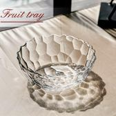 家用玻璃果斗創意客廳擺件歐式大號水果盤果籃干果盤透明玻璃碗HPXW十月週年慶購598享85折