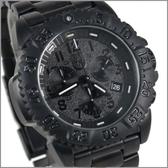 【萬年鐘錶】LUMINOX 雷明時 鐵漢系列鋼鍊腕錶 專業三眼計時碼錶 LM-A3182.BO