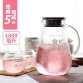 玻璃耐熱高溫防爆涼水杯家用套裝扎壺大容量涼水壺 【降價兩天】