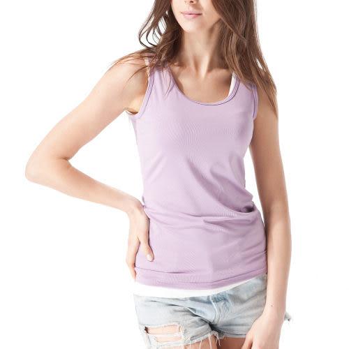 《MORINO》機能休閒抗UV速乾女背心-紫色