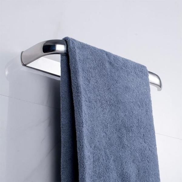 溫潔爾浴室不銹鋼掛毛巾架免打孔衛生間單桿免釘廚房抹布架吸盤式 WD 時尚潮流