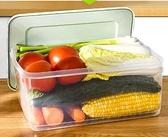 收納盒 大容量冰箱專用保鮮盒食物蔬菜水果收納盒雞蛋食品冷凍密封塑料盒【快速出貨八折下殺】