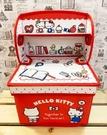 【震撼精品百貨】Hello Kitty 凱蒂貓~三麗鷗 KITTY~布面收納箱-紅*15034